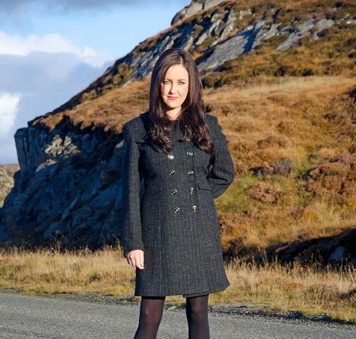 Harris Tweed Monochrome Coat
