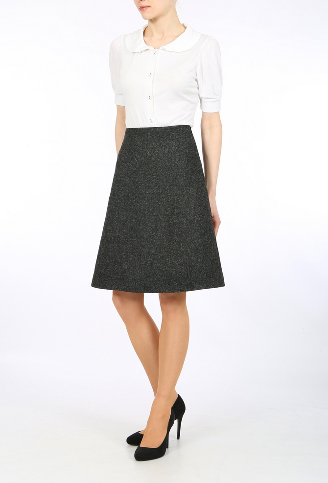 harris tweed skirt, pencil skirt, taolored skirt, pure wool skirt ...