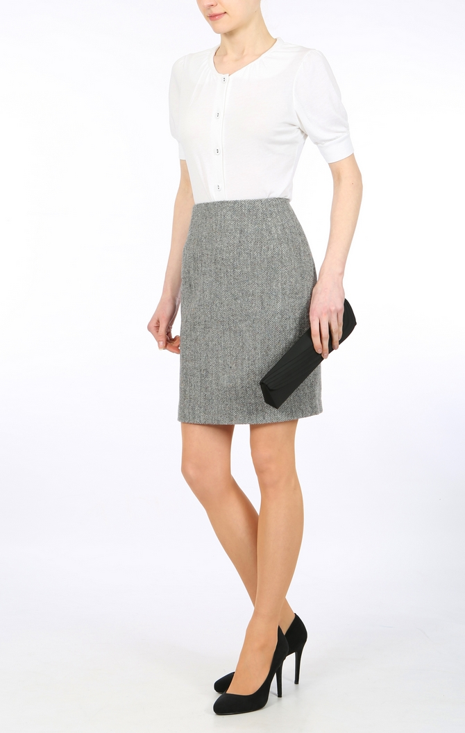 harris tweed skirt, pencil skirt, taolored skirt, pure wool skirt ...