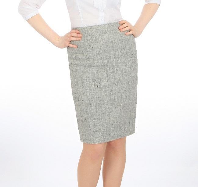 light grey pencil skirt redskirtz