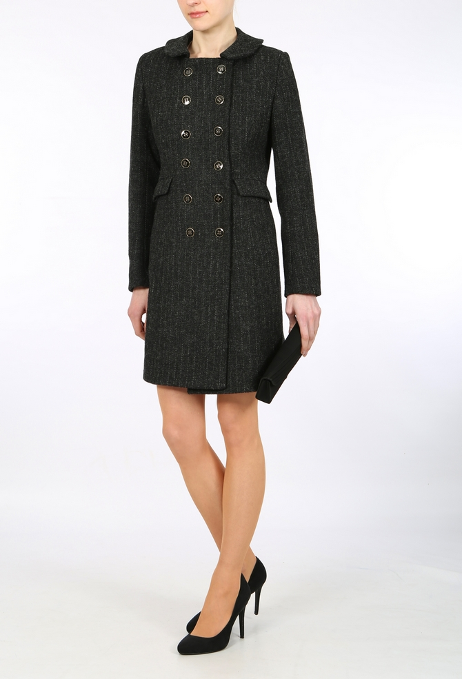 Harris Tweed Monochrome Black coat