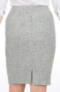 Light Grey Harris Tweed pencil skirt