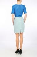 Sky Blue Harris Tweed mini skirt