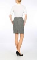 Harris Tweed Hound's tooth mini skirt