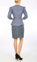 Harris Tweed Blue mini-skirt
