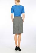 Houndstooth Harris Tweed  pencil skirt