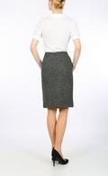 Dark Grey Harris Tweed pencil skirt