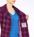 Harris Tweed purple tartan coat