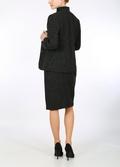 Harris Tweed black with Banker's pinstripe monochrome jacket
