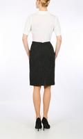 Pinstripe Harris Tweed pencil skirt