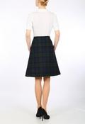 Black Watch Tartan Harris Tweed A-line skirt