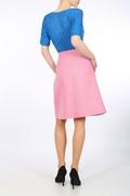 Pink Harris Tweed A-line skirt