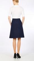 Navy Harris Tweed  A-line skirt