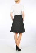 Dark Grey Harris Tweed A-line skirt