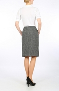 Dark Grey Herringbone Harris Tweed pencil skirt
