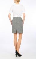 Blue Grey Herringbone Harris Tweed mini skirt