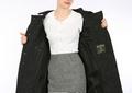 Harris Tweed Black Monochrome coat