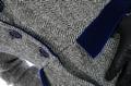 Harris Tweed Grey Herringbone with Cobalt detail peplum tailored jacket